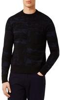 Topman Men's Camo Crewneck Sweater