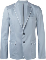 Wooyoungmi piped trim blazer - men - Cotton/Polyester/Spandex/Elastane/Rayon - 48