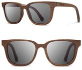 Shwood Women's 'Prescott' 52Mm Wood Sunglasses - Walnut/ Grey