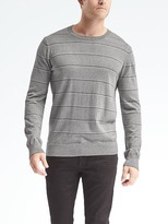 Banana Republic Stripe Silk Cotton Cashmere Crew Pullover