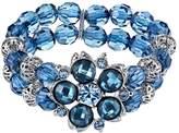 1928 Flower & Bead Multirow Stretch Bracelet