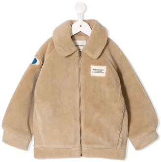 Bobo Choses Logo Patch Shearling Jacket