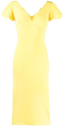 Ermanno Scervino lace inserts fitted dress