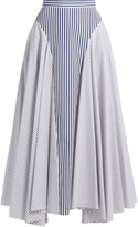 ADAM by Adam Lippes Handkerchief-hem striped cotton skirt