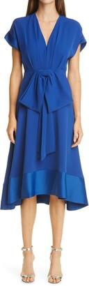 Sachin + Babi Crepe Charmeuse Midi Dress