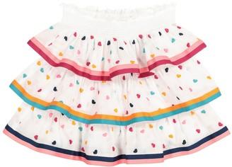 Zimmermann Kids Poppy embroidered cotton skirt