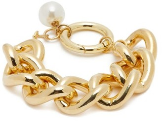 Rosantica Canasta Pearl-embellished Curb-chain Bracelet - Pearl