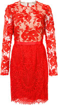 Monique Lhuillier lace bodycon dress - women - Polyester/Spandex/Elastane - 2