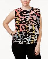 Rachel Roy Trendy Plus Size Draped Top