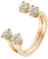 Delfina Delettrez 18kt Pink Gold Ring with Diamonds