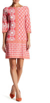 Taylor 3/4 Sleeve Printed Shift Dress