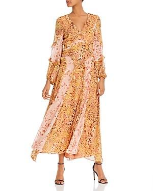 Bardot Mixed Print Ruffled Dress
