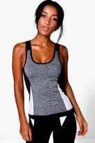 boohoo Molly Fit Performance Contrast Panel Running Vest