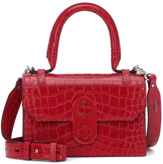 Christian Louboutin Elisa Small croc-effect leather tote