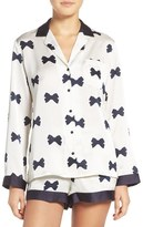 Kate Spade Women's Bow Print Charmeuse Pajamas