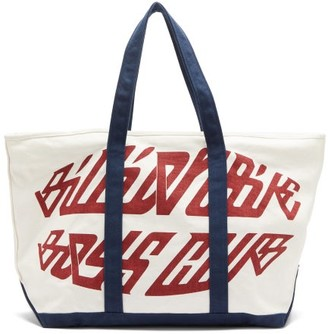 Billionaire Boys Club Logo-print Cotton-canvas Tote Bag - White