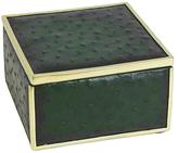Square Embossed Ostrich Skin Box