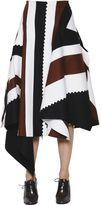 Sportmax Asymmetric Patchwork Felted Wool Skirt