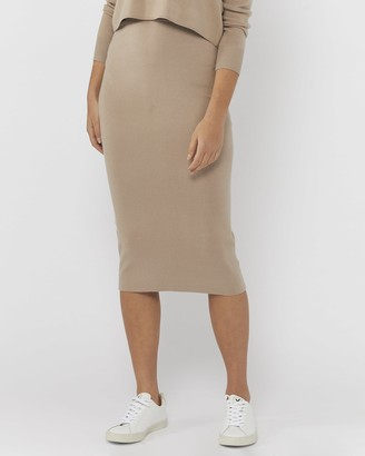Everly Collective - Women's Neutrals Pencil skirts - All I Want Skirt - Size One Size, XS at The Iconic