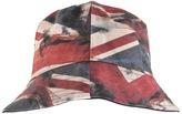 Pretty Green Reversible Union Jack Bucket Hat Navy