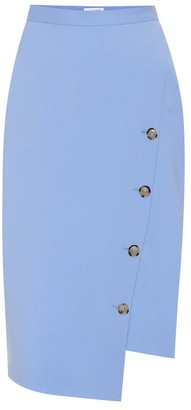 Altuzarra Faro stretch wool asymmetric skirt