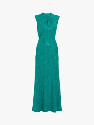 Gina Bacconi Jovanna Sequin Lace Maxi Dress
