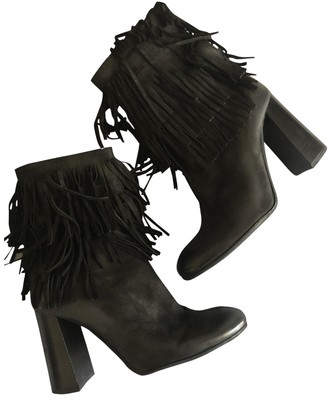Miu Miu Anthracite Suede Ankle boots