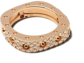 Roberto Coin 18kt rose gold diamond Pois Moi ring
