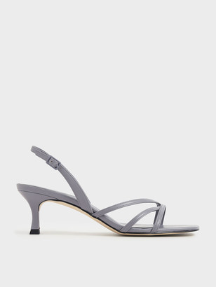 Charles & Keith Asymmetric Strappy Patent Heels