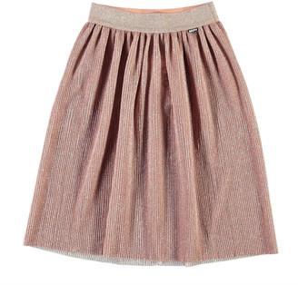 Molo Girl's Bailini Glitter Pleated Skirt, Size 3T-14