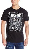 Liquid Blue Men's Acdc Black In Black Short Sleeve T-Shirt