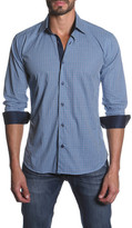 Jared Lang Long Sleeve Contrast Trim Semi-Fitted Shirt