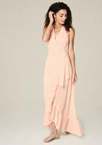 Bebe Petite Ruffled Maxi Dress
