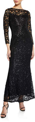 Marina Lace Gown With Keyhole Back