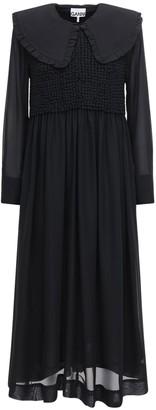 Ganni Chiffon Midi Dress