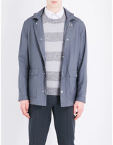 Brunello Cucinelli Hooded Wool And Silk-blend Jacket