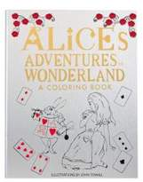 Graphic Image Leather-Wrapped Alice Adventures in Wonderland Coloring Book