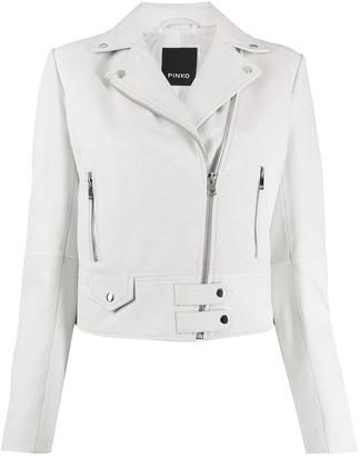 Pinko Leather Biker Jacket