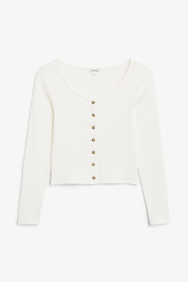 Monki Buttoned long-sleeved top
