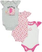 """Hudson Baby Baby Girls' """"Best Friends"""" 3-Pack Bodysuits"""