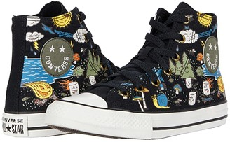 Converse Chuck Taylor(r) All Star(r) Camp - Hi (Little Kid/Big Kid) (Black/Bold Mandarin/Amarillo) Boy's Shoes