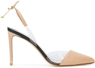 Francesco Russo Transparent Insert Slingback Pumps