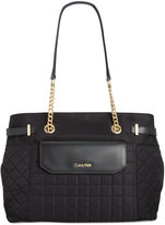 Calvin Klein Nylon Quilted Tote