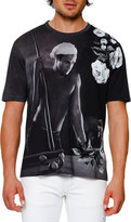 Dolce & Gabbana Brando Printed T-Shirt, Gray/White/Black