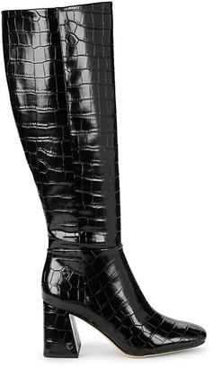 Sam Edelman Karina Crocodile-Print Knee-High Boots