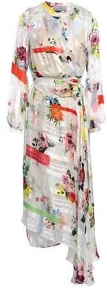 Preen by Thornton Bregazzi Asymmetric Floral-print Chiffon Midi Wrap Dress