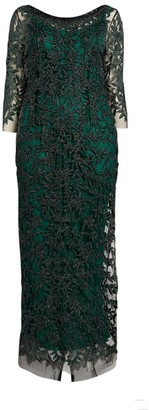Marina Rinaldi Embroidered Gown
