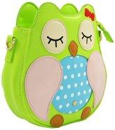 Katia Girl's Owl Cross Body Shoulder Bag - Night Owl Shape PU Cross Body Bag / Owl Faux Leather Shoulder Bag / Cross Body Bag / Clutch Purse Shoulder Bag