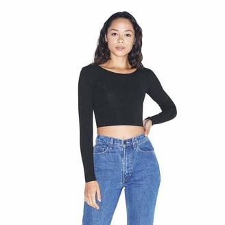 American Apparel Women's Cotton Spandex Jersey Long Sleeve Crop Top