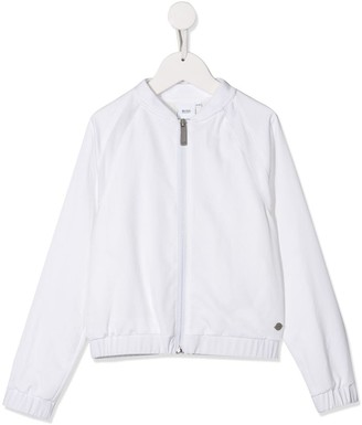 Boss Kids zip-up bomber jacket